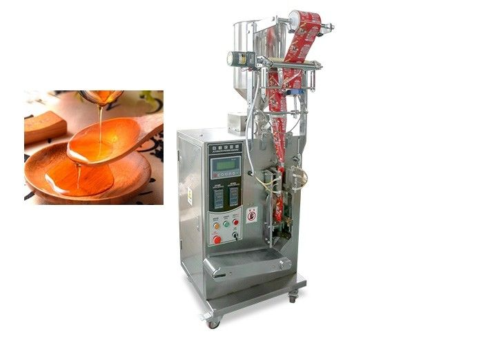 Stand Up Soup Packaging Machine , Liquid Packing Oil Filling And Packing 5g