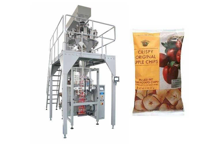 Dry Fruit Apple Chips Multihead Weigher Packing Machine Full Automaitc